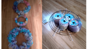 Spring Wreaths with Dollar Tree Products