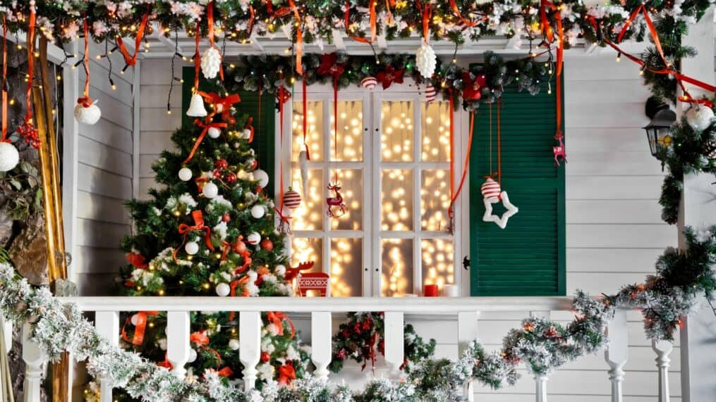 Christmas porch