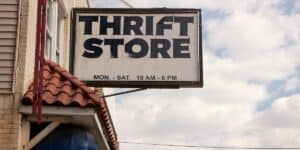 Thrift Store Sign